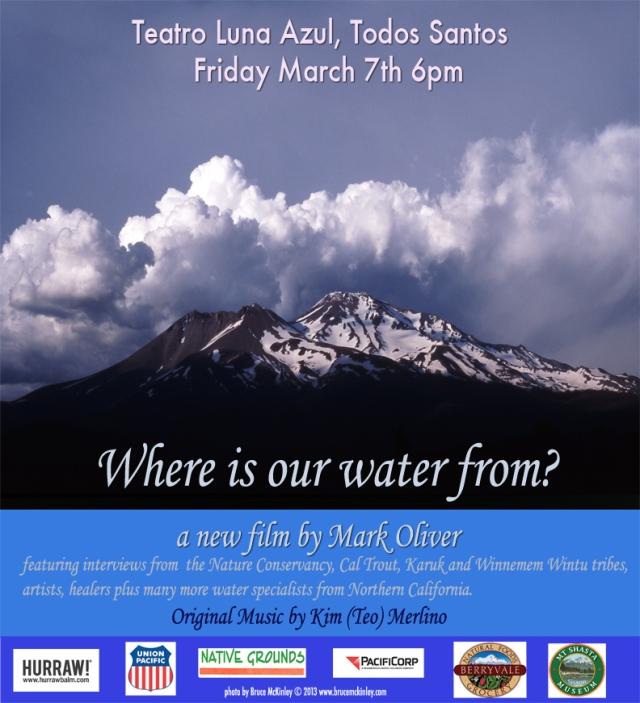 water poster Teatro Azul