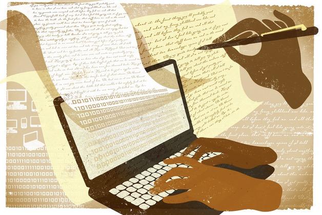 Write on line